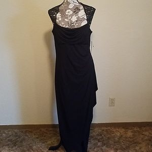 NWT full length black evening gown